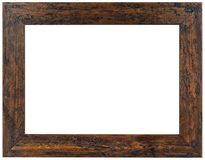 Old Brown Wooden Frame Cutout Stock Images