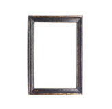 Wooden picture frame isolated on white Royalty Free Stock Photos