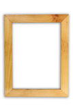 Wooden picture frame isolated on white Stock Photo