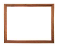 Wooden picture-frame isolated on white background Royalty Free Stock Photography