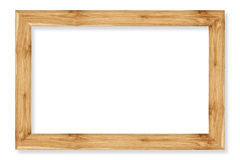 Wooden picture frame isolated on white Royalty Free Stock Image