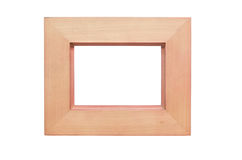 Wooden picture frame isolated on white background Stock Images
