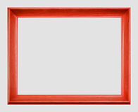 Wooden Picture Frame. Wooden rectangular empty picture frame Stock Images