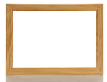 Wooden picture frame with reflection Royalty Free Stock Photography