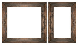 Wooden picture frame set on white isolated Stock Photography