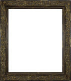 Wooden Picture Frame on White Royalty Free Stock Photo