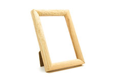 Wooden of picture frame. On white background Stock Images