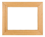 Wooden picture frame, on white background Royalty Free Stock Photos