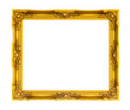 Wooden picture frame on white isolated Royalty Free Stock Photo