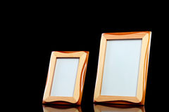 Wooden picture frames Stock Images