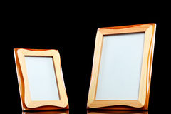 Wooden picture frames Stock Photo