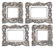 Wooden Picture Frames. Four wooden picture frames rectangle and square stock image