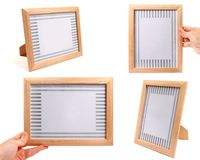 Wooden picture frames Royalty Free Stock Photos