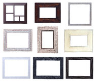 Wooden picture frames pack Stock Images