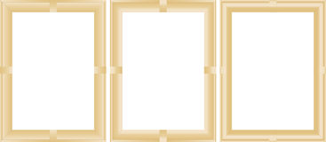 Wooden picture frames and paintings Royalty Free Stock Photos