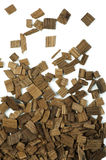Wooden pieces Royalty Free Stock Images