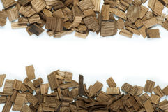 Wooden pieces Stock Photo