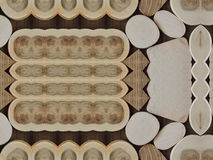 Wooden pieces pattern royalty free stock photos
