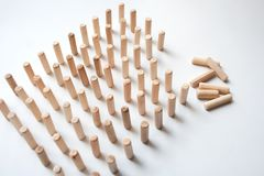 Wooden pieces puzzle abstract composition stock photography