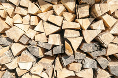 Wooden pieces of wood Royalty Free Stock Image
