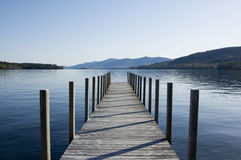 Wooden Pier. On Lake George Stock Photos
