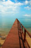 Wooden pier. Stock Photo