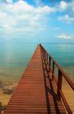 Wooden pier. Stock Photo