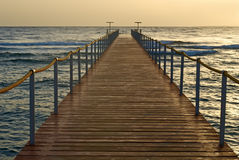 A wooden pier Stock Photos