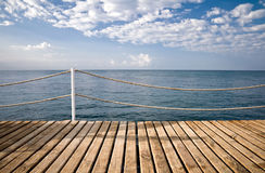 On the wooden pier Stock Images