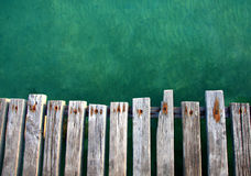 Wooden pier. On Samet island in eastern of Thailand stock image