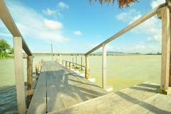 Wooden pier. Yo island, Thailand Royalty Free Stock Image