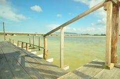 Wooden pier. Yo island, Thailand Royalty Free Stock Photography