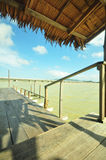 Wooden pier. Yo island, Thailand Royalty Free Stock Images