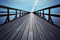 Wooden pier Stock Photos