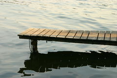 Wooden pier. On the lake Royalty Free Stock Images