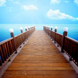 Wooden Pier Background Stock Photography