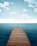 Wooden Pier Background Stock Images