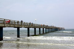 Wooden pier in Baltic Sea. Germany Stock Photo