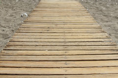 Wooden pier on the beach Royalty Free Stock Photography