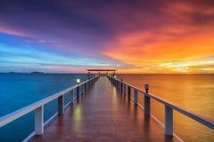 Free Wooden Pier Between Sunset Stock Image - 77184801