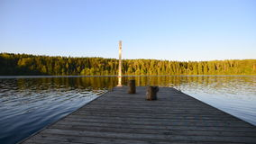 Wooden pier stock footage