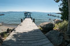 Lake Tahoe boat dock Royalty Free Stock Images