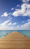 Wooden pier into Caribbean Sea Royalty Free Stock Photos