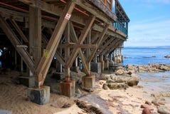 Wooden Pier and Coast in Monterey California Stock Photos