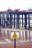 Wooden pier construction Royalty Free Stock Images