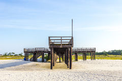 Wooden pier at Dauphin Island Stock Photos