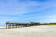 Wooden pier at Dauphin Island Stock Photo