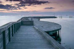 Wooden pier. Royalty Free Stock Images