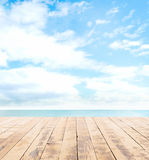 Wooden pier, exotic sea and the  blue sky Stock Image