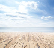 Wooden pier, exotic sea and a blue sky Royalty Free Stock Photography